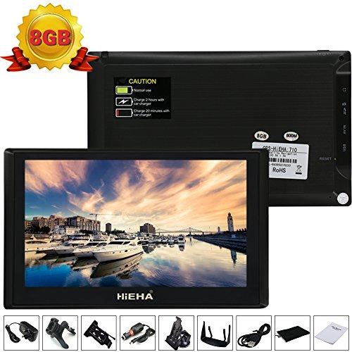 Hieha® 7 Zoll 8GB Auto KFZ Europe Traffic GPS Navi Navigation Navigationssystem Navigationsgerät Neueste Karten Blitzerwarnungen