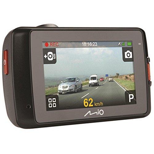 Mio MiVue 658 Touch Super HD Dashcam Videokamera für Auto mit Touchscreen, Radar-Warnung, GPS-Funktion, 140 Grad Weitwinkelkamera, 3-Achsen-G-Sensor, Parkmodus und Fotomodus