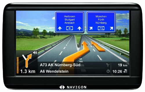 NAVIGON 42 Easy Navigationssystem 10,9cm 4,3 Zoll Display, Europa 20, TMC, NAVIGON Flow, Aktiver Fahrspurassistent, Reality View Pro