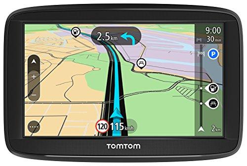 TomTom Start 52 Navigationsgerät 13 cm 5 Zoll Display, Lifetime Maps, Fahrspurassistent, Karten von 48 Ländern Europas schwarz