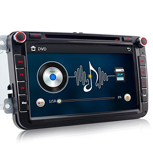 A-Sure 8 Zoll 2 Din 3G DAB+ Autoradio Navi DVD GPS VMCD Bluetooth TMC FM Radio RDS Für VW Passat Golf 5 6 Touran Tiguan Transporter Multivan T5 Polo Jetta Caddy Skoda Seat Altea