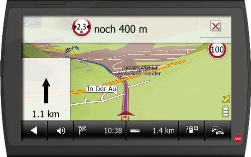 Falk Neo 640 LMU Camper Navigationssystem 15,2 cm 6 Zoll Display, Kartenmaterial für 45 Länder, Lebenslange Kartenupdate, 3D Fahrspurassistent schwarz