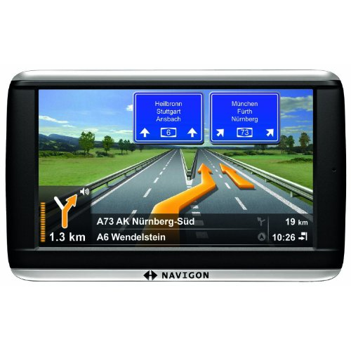 NAVIGON 42 Plus Navigationssystem 10,9cm 4,3 Zoll Display, Europa 44, TMC, NAVIGON Flow, Text-to-Speech, Aktiver Fahrspurassistent