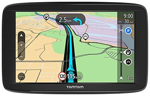 TomTom Start 62 Navigationsgerät 15 cm 6 Zoll Display, Lifetime Maps, Fahrspurassistent, Karten von 48 Ländern Europas schwarz