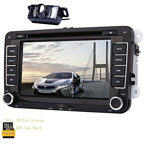 Eincar 7-Zoll-WinCE 6.0 Doppel 2Din Head Unit f¨¹r VW Autoradio-Golf Jetta Passat Polo im Schlag-Auto-Radio-Empf?nger unterst¨¹tzen FM AM RDS Canbus Multimedia-System Auto-DVD-Player mit 8 GB GPS Navigations-Radio Stereo beinhalten die kostenlose HD-Backup-Kamera
