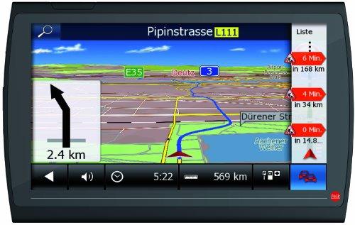 Falk NEO 640 LMU Navigationsgerät 15,2 cm 6 Zoll Display, 47 Länder Europas vorinstalliert, Lebenslange Kartenupdates, TMC, Marco Polo Travelguide schwarz