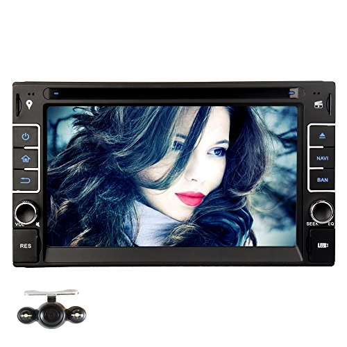 6.2″ Double Din Autoradio DVD Player GPS Navigation NAVISKAUTO Windows CE 6.0 Multimediasystem Touch Screen Bluetooth FM AM Radio Lenkradsteuerung W0237+Y0801