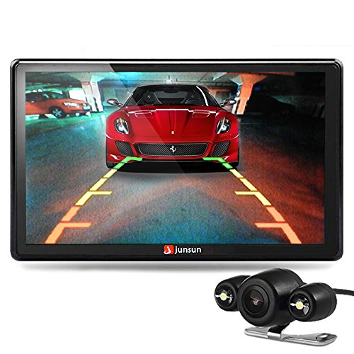 Auto GPS SAT NAV 17,8 cm Bluetooth 8 GB mit Kamera FM MP3 MP4 256 MB DDR/800MHZ Lebenslange UK und Europa Map Updates von junsun