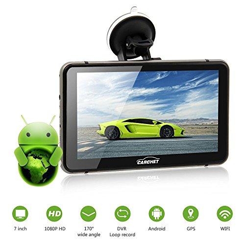 CARCHET Auto GPS Navigation mit DVR Android 7″ 1080P DVR Navigationsgerät 8GB EU Landkarte