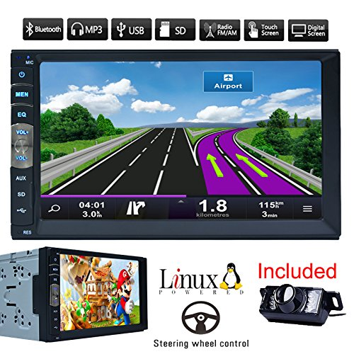Bluetooth Auto-GPS-Navigation MP5 Spieler des Lärms 2 7-Zoll-Touch-Screen-Auto-Radio Stereo-Receiver Fahrzeug-Multimedia-PC-Systeme No-DVD mit HD-Rückseiten-Kamera
