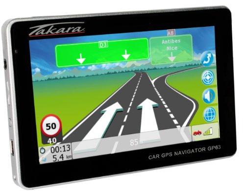 Takara GP63 Navigationsgerät Touchscreen, 4,3 Zoll 11 cm, Multimedia, interner Speicher, 2 GB Schwarz