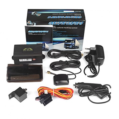AFTERPARTZ® GPS Tracker TK104 Auto Überwachung GPS Ortung GSM GPRS Google Peilsender Eingebauter Shock-Sensor Personen und Fahrzeugortung GPS Sender TK104