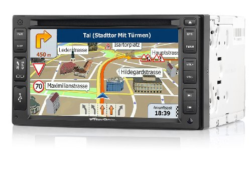 NavGear StreetMate 2-DIN-Autoradio mit 6″-Navi DSR-N 62 Westeuropa