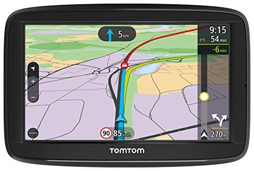 TomTom Via 52 Europe Traffic Navigationsgerät 13 cm 5 Zoll, Sprachsteuerung, Bluetooth Freisprechen, Fahrspurassistent, 3 Monate Radarkameras auf Wunsch, Karten von 48 Ländern Europas schwarz