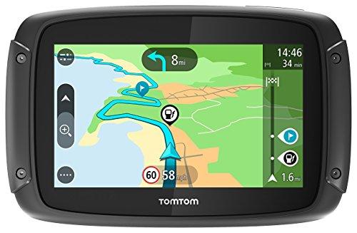 TomTom Rider 42 Navigationsgerät Cleveres Display, Karten-Updates, Regional 19 Länder, Traffic-Update, Radarkameras-3 Monate, Freisprechen schwarz