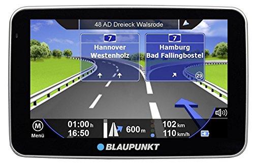 Blaupunkt TravelPilot 52 Truck EU LMU Navigationssystem 12,7 cm 5 Zoll Touchscreen-Farbdisplay, Kartenmaterial TomTom Maps europa, Lebenslanges Kartenupdate mit Bluetooth Freisprecheinrichtung schwarz