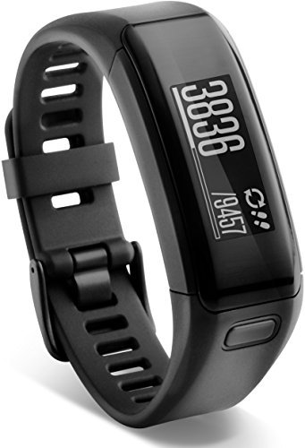 L 13,7-18,8 cm – Garmin vívosmart HR Fitness-Tracker – integrierte Herzfrequenzmessung am Handgelenk, Smart Notifications, Schwarz, M