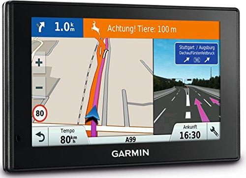 lebenslange Kartenupdates, Verkehrsfunklizenz, Sprachsteuerung, 5 Zoll 12,7 cm Touch-Glasdisplay – Garmin DriveSmart 50 LMT-D EU Navigationsgerät
