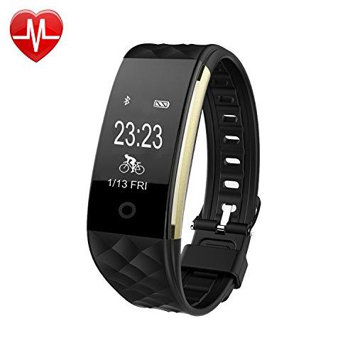 Wasserdichte Pulsuhr,Fahrrad Tracker Bluetooth Smart Armband Aktivitätstracker Uhr, Fitness Tracker mit Herzfrequenz Monitor Schlaf-Überwachung, Kalorien / Radfahren, Track Synchronisierungs-Erinnerung, Schrittzähler, Pedometer für Android und iPhone Smartphones SW328.