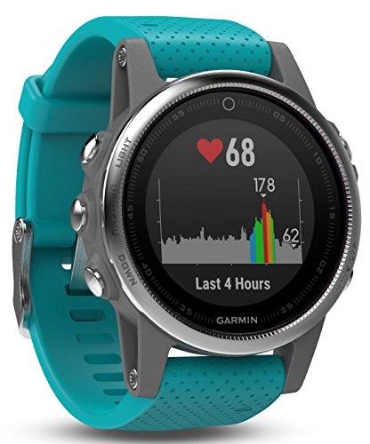 Garmin fēnix 5S GPS-Multisport-Smartwatch – 24/7 Herzfrequenzmessung am Handgelenk, zahlreiche Sport- & Navigationsfunktionen, 1,1 Zoll 2,8 cm Farbdisplay