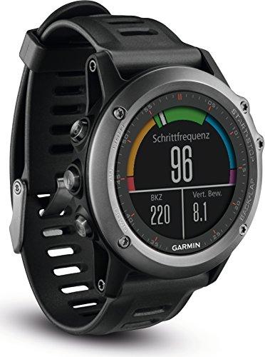 Garmin fenix 3 GPS-Multisportuhr – Smartwatch-, Navigations- und Sportfunktionen, GPS/GLONASS, 1,2 Zoll 3cm Farbdisplay