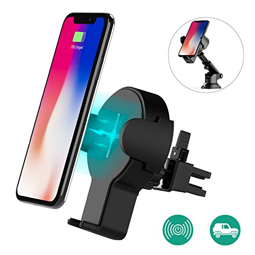auckly qi fast wireless charger 2 in 1 kfz halterung und. Black Bedroom Furniture Sets. Home Design Ideas