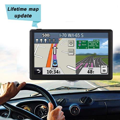 GPS navi Navigation für Auto pkw 7,Navigationfür Touch Screen Auto PKW LKW mit Lebenslang Kostenlosem Kartenupdate Blitzerwarnung POI Sprachführung Fahrspurassistent 2018 Karten für 52 EU UK