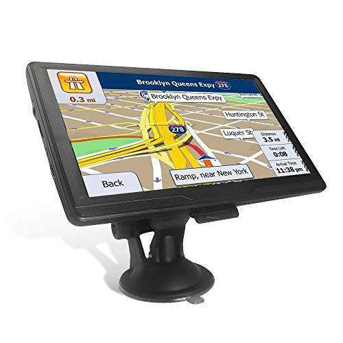 GPS Navi Navigation für Auto LKW PKW 7 Zoll 8GB 256MB Lebenslang Kostenloses Kartenupdate, Navigationsgerät mit POI Blitzerwarnung Sprachführung Fahrspurassistent 2018 Europa UK