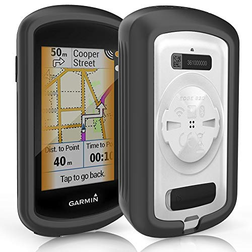 TUSITA Hülle für Garmin Edge Explore GPS – Zubehör für Touchscreen Bike Computer SCHWARZ – Silikon schutzhülle Skin