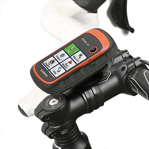Wicked Chili Fahrrad Halterung für Garmin eTrex, Dakota, Oregon, Approach, Astro, GPSMAP passgenau, QuickFix, wiederverschließbare Kabelbinder, Made in Germany schwarz