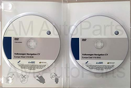 Pack 2 DVD-ROM Volkswagen Navigation CY Europe West V16 + East V16. Update DVD Maps RNS510 / RNS810