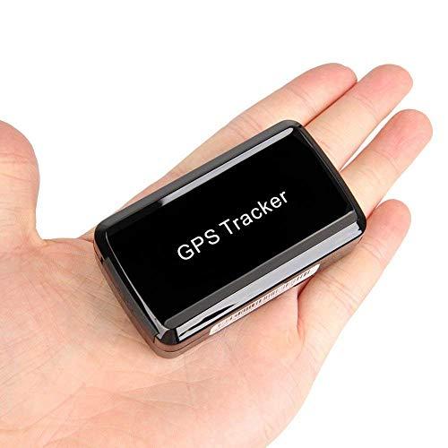 BuFan Mini GPS Tracker Standby 30 Tage Echtzeit-SMS-Positionierung, Leistungsstarker Magnet wasserdichter Diebstahlschutz GPS-Alarm-Fahrzeugortung, Kostenlose APP