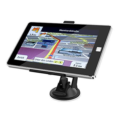 ODLICNO Auto Navigation GPS Navi Navigationsgerät 7 Zoll Touchscreen mit Lebenslangen Kostenlosen Kartenupdates 52 EU-Landkarten 2019 für Auto LKW PKW KFZ Taxi Wohnmobil Mehrsprachig