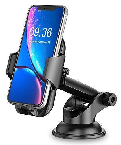 Cocoda Handyhalterung Auto, Armaturenbrett/Windschutzscheiben KFZ Handy Halterung, 360° Drehbar Ausziehbarer Arm Schnelle Freigabe, Handyhalter Auto für iPhone XS Max/XR/X/8, Samsung Huawei Xiaomi