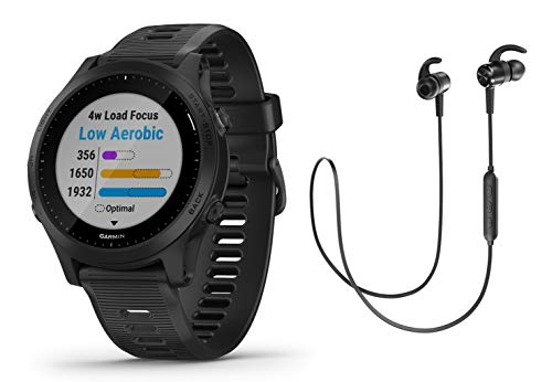 Garmin Forerunner 945 – GPS Multisportuhr/Smartwatch mit Karten und Musik – schwarz inkl. Bluetooth Headset