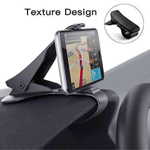 Modohe Handyhalterung Auto, Kfz Armaturenbrett Universal rutschfest Handyhalter für iPhone XR XS Max X 8 7 6s Plus Samsung S10 S9 S8 Note Huawei P20 und alle 3.5-6.5 Zoll Smartphones Schwarz