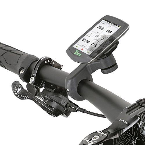 Wicked Chili Fahrrad / Motorrad Design Halterung für Teasi one4 / one3 eXtend / one3 / one2 / one / Core / Pro Pulse und SMAR.T Power Sicherungsschutz / QuickFix-System / Made in Germany schwarz