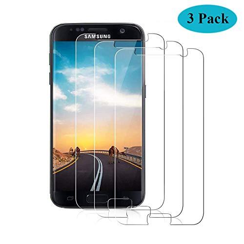 Seomusen Panzerglas Schutzfolie kompatibel mit Samsung Galaxy S7 3 Stück, 9H Härte Anti-Kratzen Anti-Fingerabdruck Anti-ÖlHD Ultra Klar, Panzerglasfolie für Galaxy S7