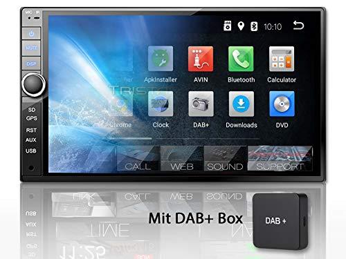 "Tristan Auron BT2D7020A Autoradio + DAB+ Box, Android 8.1, 7"" Touchscreen Bildschirm, GPS Navi, Bluetooth Freisprecheinrichtung, Quad Core, USB/SD, OBD 2, DAB, 2 DIN"