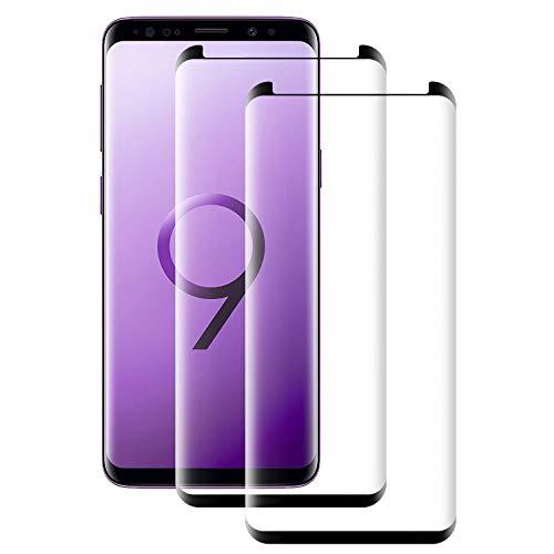 Seomusen Panzerglas Schutzfolie kompatibel mit Samsung Galaxy S9 2 Stück, 9H Härte Anti-Kratzen Anti-Fingerabdruck Anti-ÖlHD Ultra Klar, Panzerglasfolie für Galaxy S9