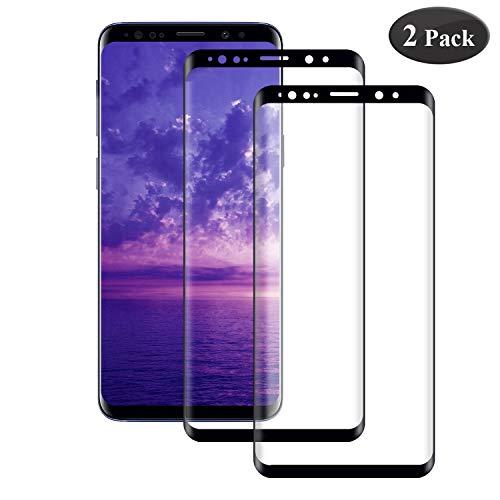 Seomusen Panzerglas Schutzfolie kompatibel mit Samsung Galaxy S9 Full Cover 2 Stück, 9H Härte Anti-Kratzen Anti-Fingerabdruck Anti-ÖlHD Ultra Klar, Displayschutzfolie für Galaxy S9