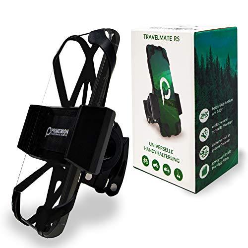 Hochwertige Smartphone Halterung mit Schnellmontagefunktion – Extrem Robuste 360° Fahrradhalterung für alle Handys bis 7 Zoll – PRIMEMION Universal Handyhalterung für Fahrrad & Motorrad