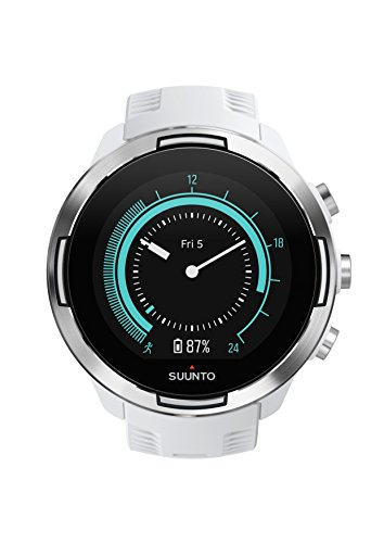 Suunto 9 GPS-Uhr, Unisex-Erwachsene, Baro, weiß, Einheitsgröße