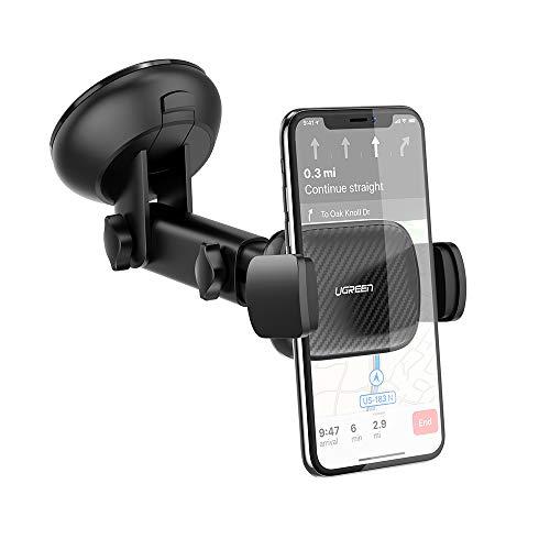 UGREEN Handyhalterung Auto Saugnapf Autohalterung Handy Armaturenbrett Handyhalter Windschutzscheibe für Samsung Galaxy Note 8 A50 A5 S10 S9, iPhone 11 Pro Se Xs Max, Huawei P20 Pro usw.