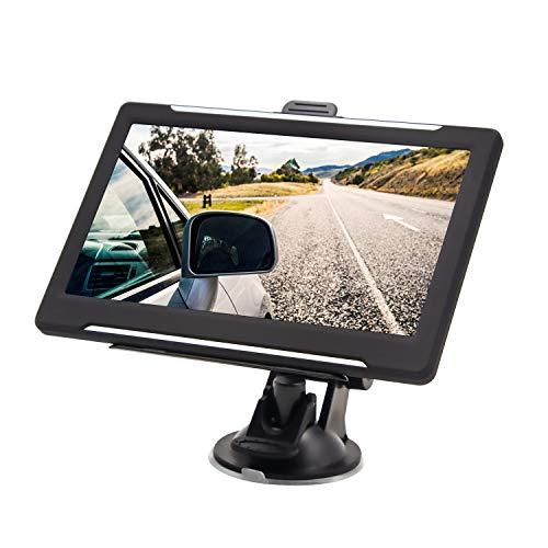 Navigationsgerät, Hertekdo GPS Navi Auto Navigation 7 Zoll 8GB 256MB Touchscreen 2019 Europa Maps Lebenslangen Kostenlosen Kartenupdates Mehrsprachig Navigationssystem für Auto LKW PKW KFZ Taxi