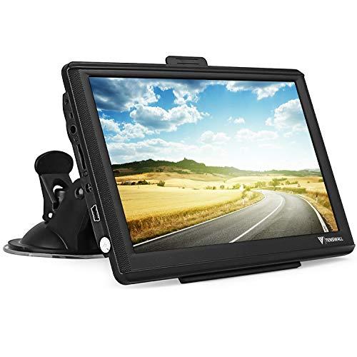 GPS Navigationsgerät für Auto, Navigation für LKW PKW KFZ 7 Zoll 8GB 256MB Touchscreen Navi mit POIBlitzerwarnungSprachführungFahrspur, Lebenslang Kostenloses EU-58Karten