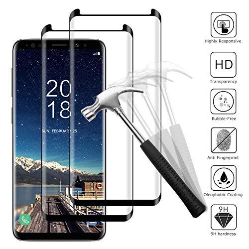 Snnisttek 2 Stück Galaxy S8 Panzerglas-Schutzfolie für Samsung Galaxy S8 Panzerglasfolie-9H Härte, Ultra Kristallklar-Schutz vor Kratzen, Öl, Bläschen Galaxy S8 Panzerglas