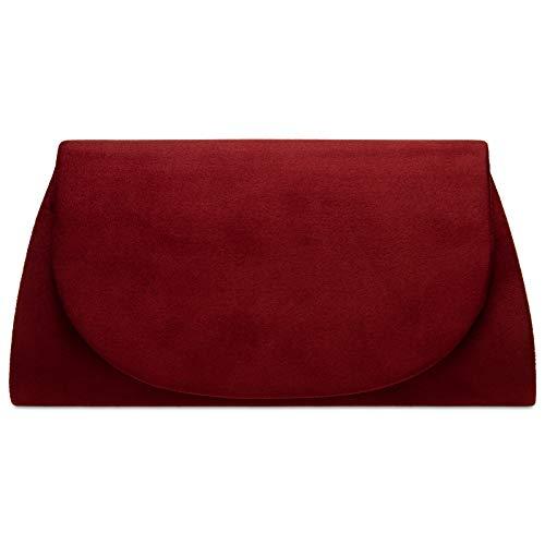 Top 7 Clutch Bordeaux Rot – Damen-Clutches