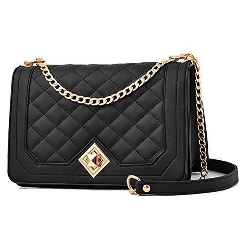 Top 10 Schwarze Tasche mit Goldkette – Damen-Umhängetaschen