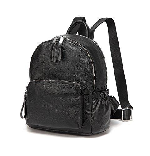 Top 10 Rucksack Damen Schwarz Kunstleder – Damen-Rucksackhandtaschen